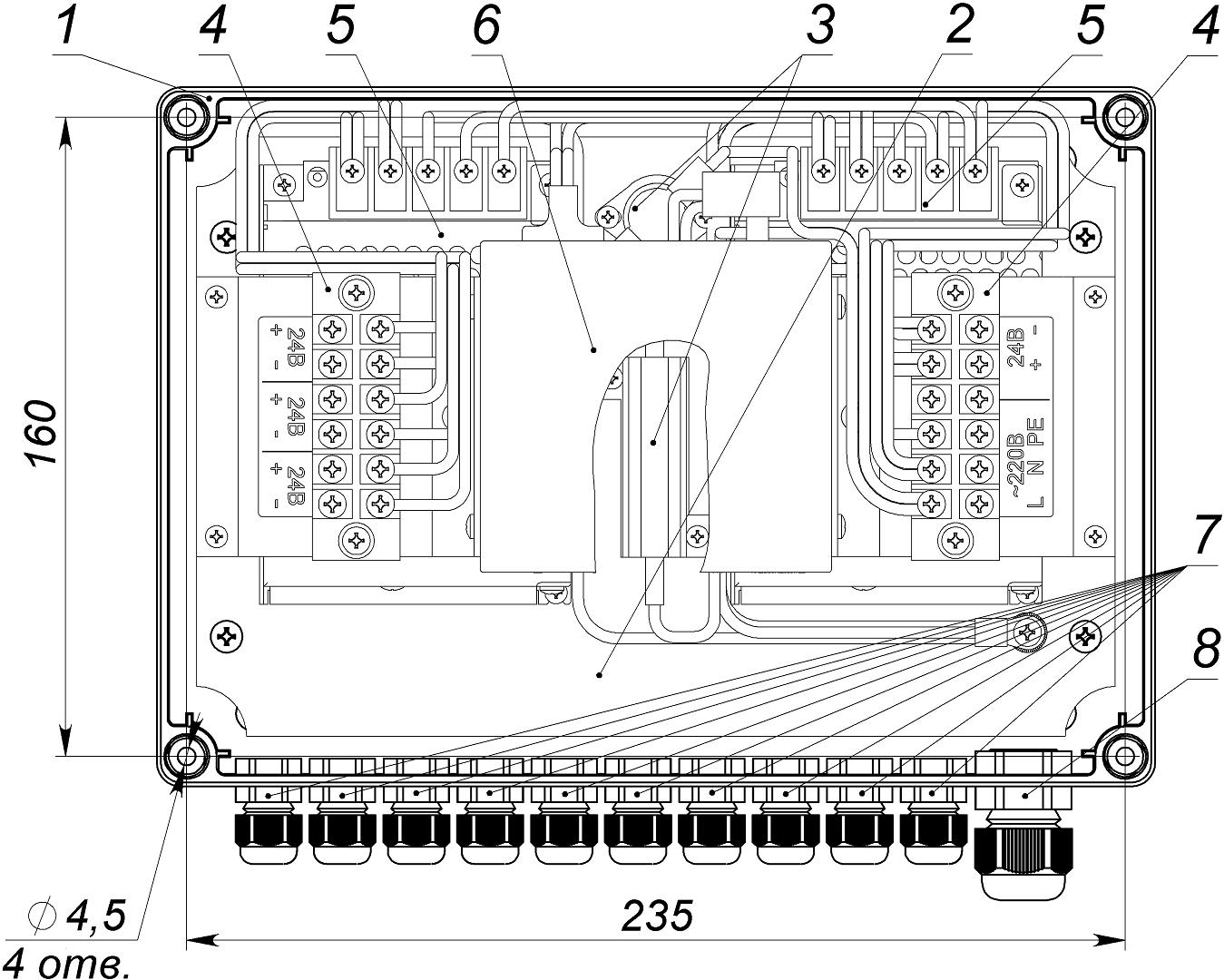 Узел системы видеонаблюдения <br>УСВ-24 18