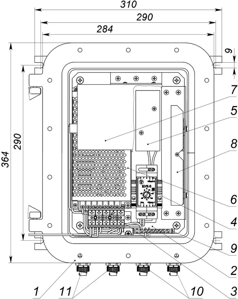 Всепогодный узел коммутации (во взрывобезопасном корпусе ЩОРВ362821 1Ex d IIB+H2 T5 Gb) <br>ВУК ВБ-14-РоЕ+ 2