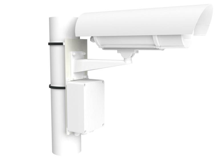 Кронштейн столбового крепления видеокамер <br>КС-1-03