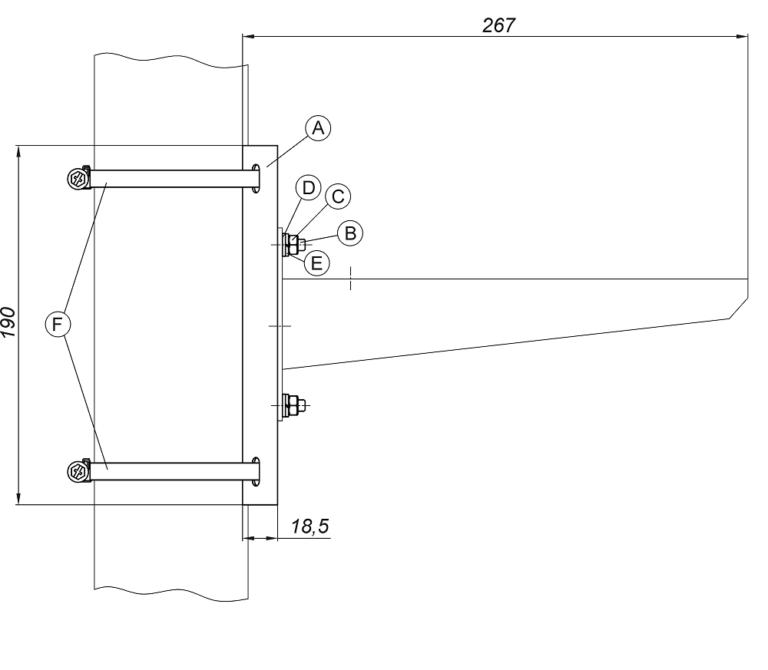 Кронштейн столбового крепления видеокамер из нержавеющей стали <br>КС-4