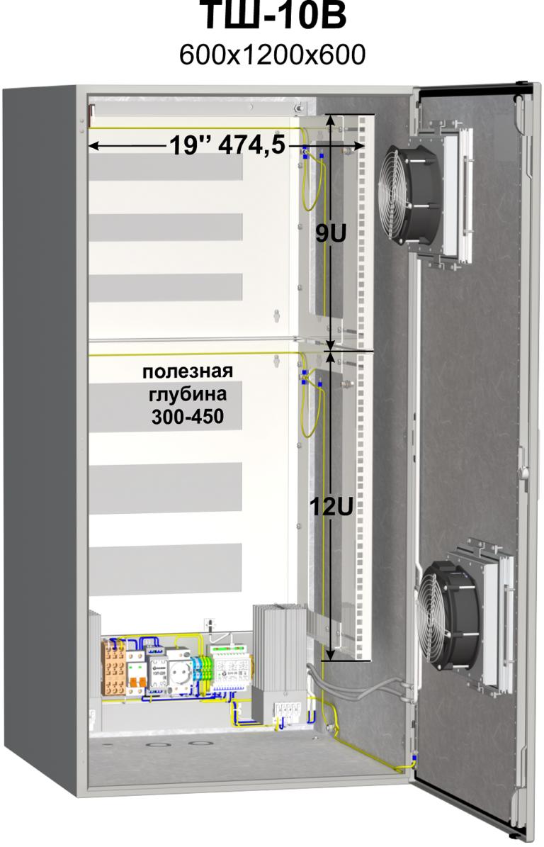 Термошкаф (600х1200х600мм, -50°С) <br>ТШ-10В 2