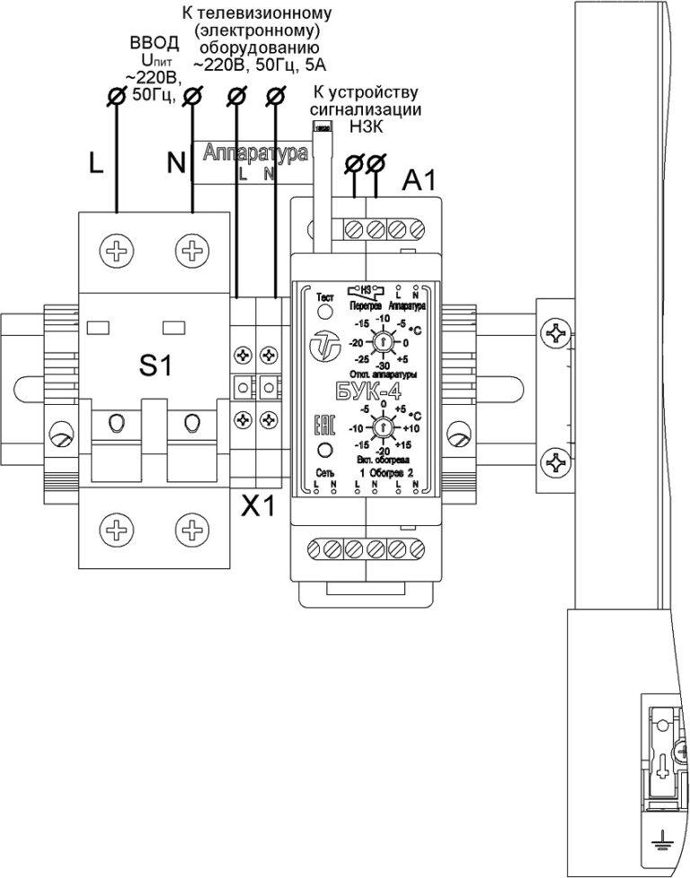 Подключение термошкафа ТШ-80.100.30.300