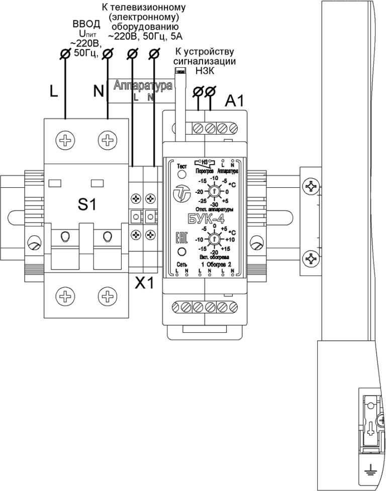 Подключение термошкафа ТШ-80.120.30.400