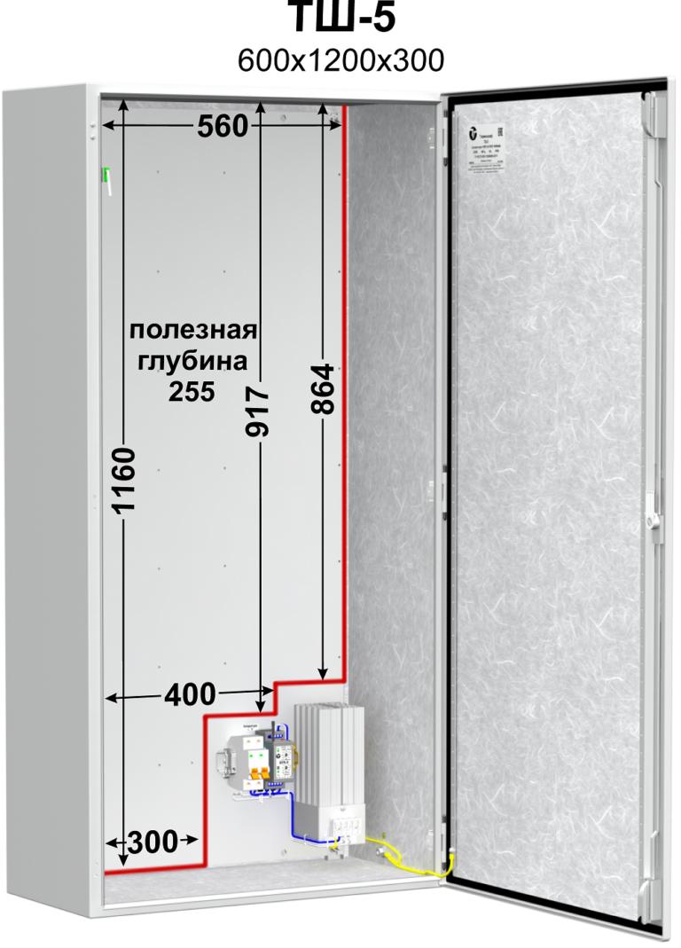 Термошкаф (600х1200х300мм, -60°С) <br>ТШ-5 2