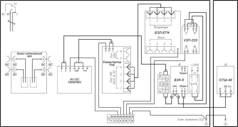 Схема электрическая принципиальная ВУК-14-РоЕ+ У11 У71