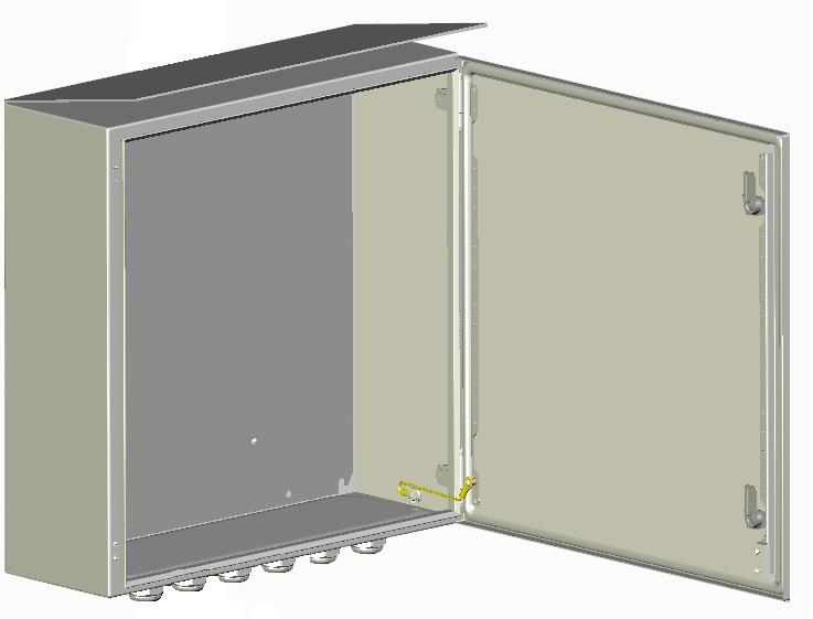 Шкаф приборный универсальный 600х600х210мм <br>ШПУ-1-03