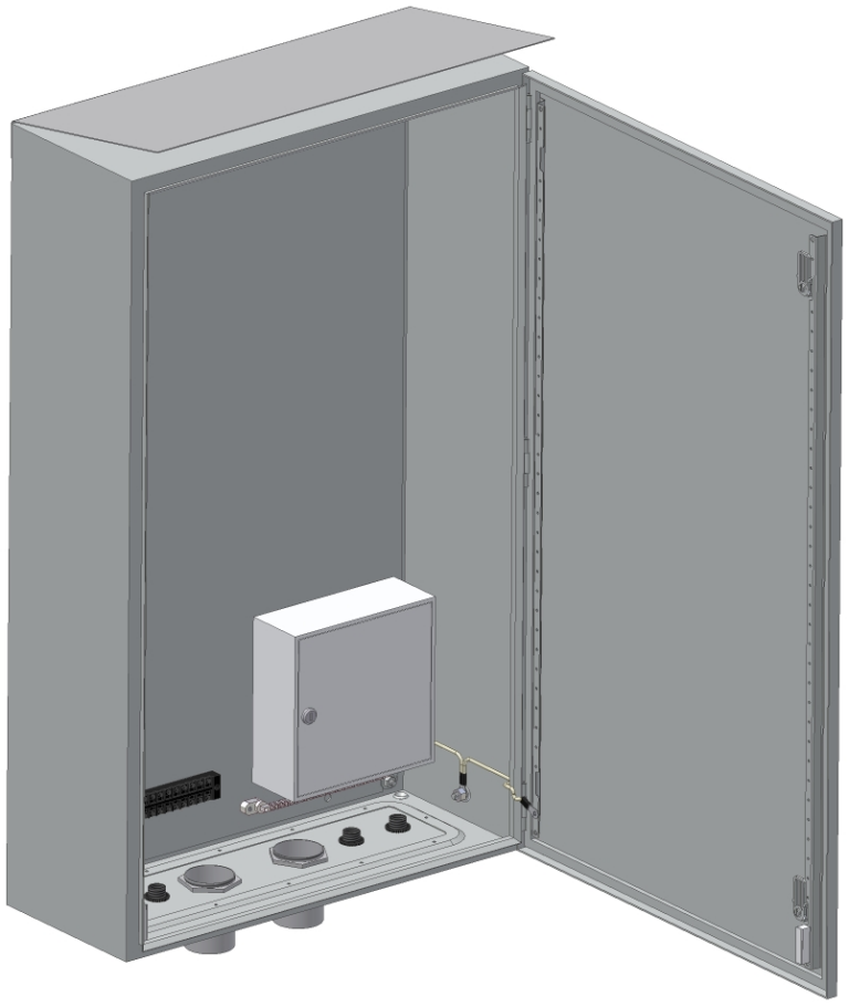 Шкаф приборный универсальный 600х1000х250мм <br>ШПУ-2Т-01