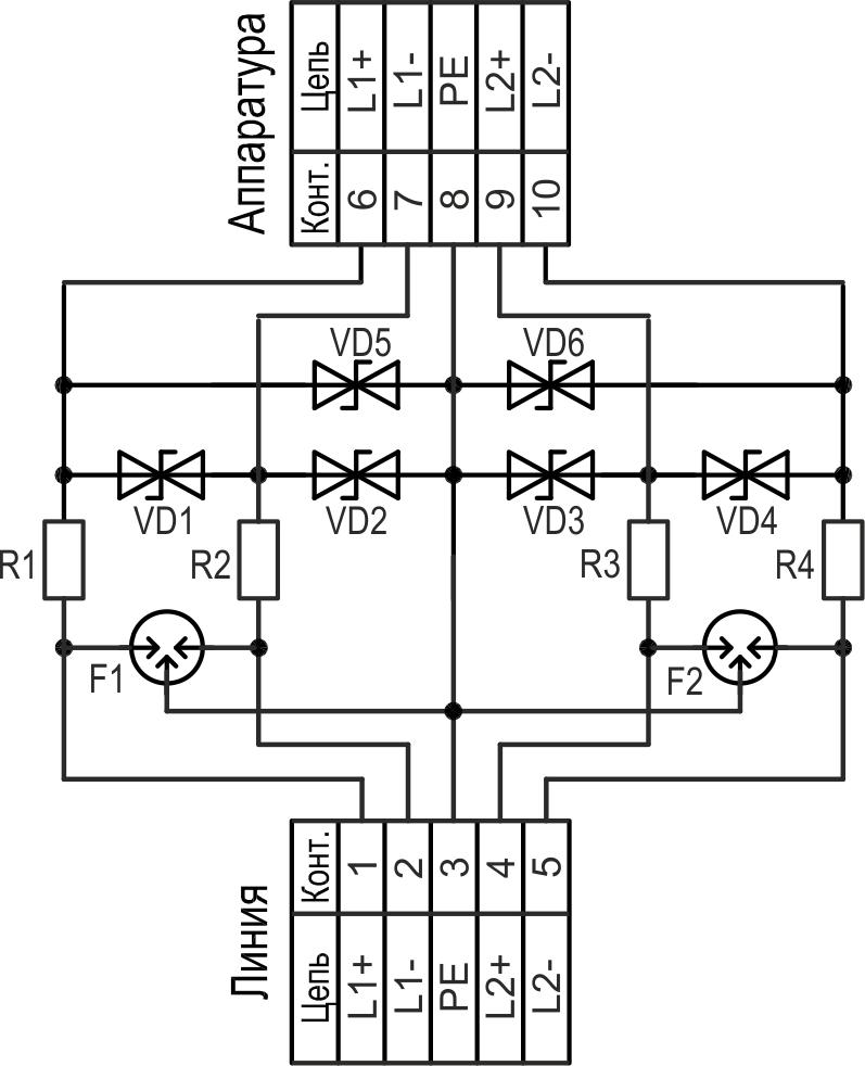 Принципиальная схема УЗЛ-СД-12 (УЗЛ-СД-24)