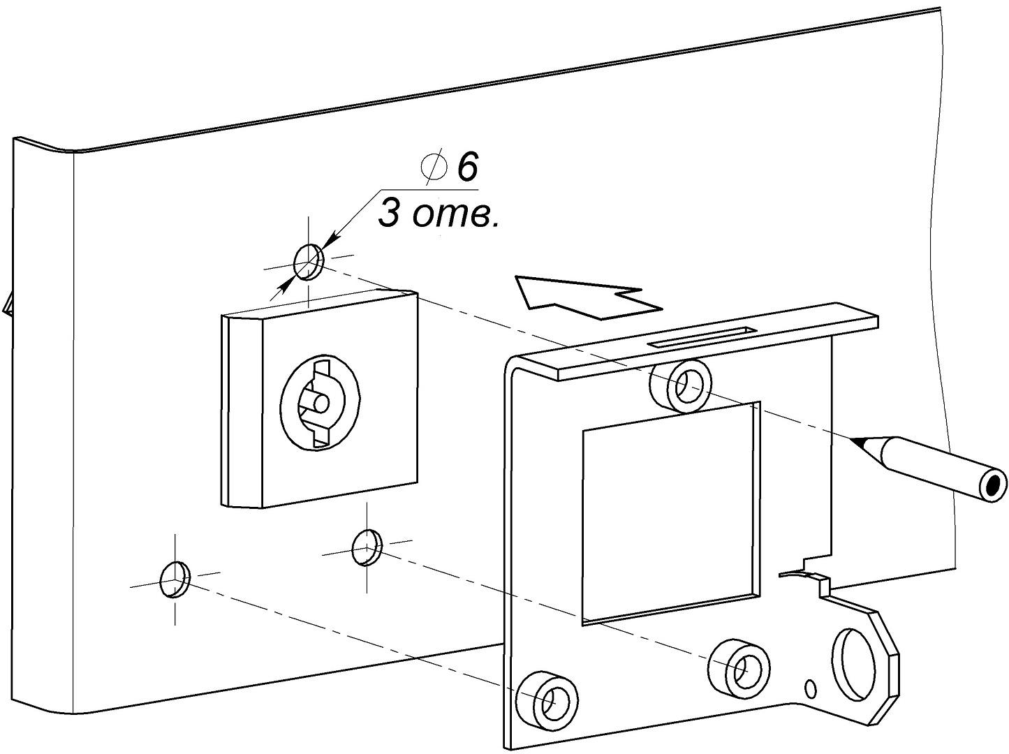 Разметка и сверление двери шкафа