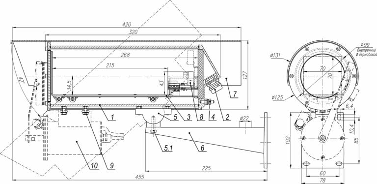 Состав и габаритно установочные размеры ТГБ-7С