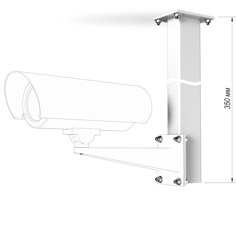 Монтаж потолочного кронштейна КП-350