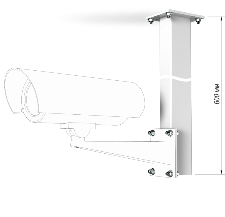 Монтаж кронштейна потолочного КП-600