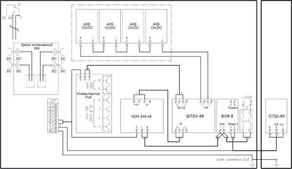 Схема электрическая принципиальная ВУК-34 РоЕ+ Р2