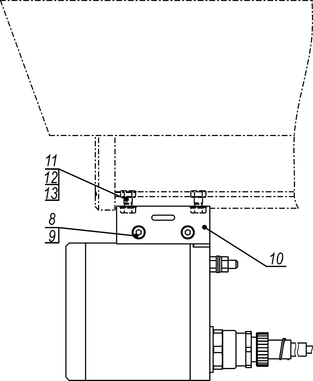 Установка прожектора на видеокамеру в термокожухах ТГБ-4Г Ех, ТГБ-4Р Ех, ТГБ-4Г Ех IIC и ТГБ-4Р Ех IIC