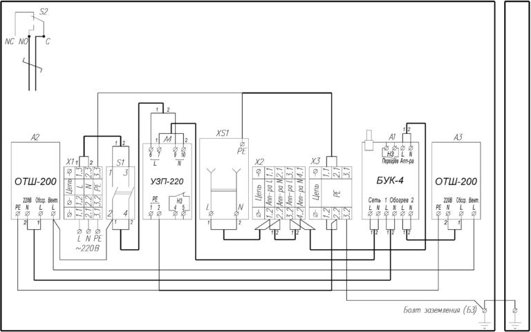 Схема электрическая принципиальная ТШ-9